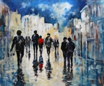 Picture of Pedestrians in Blue